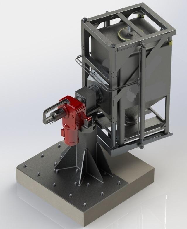 Misturador de Pedestal Tipo Bin Blender